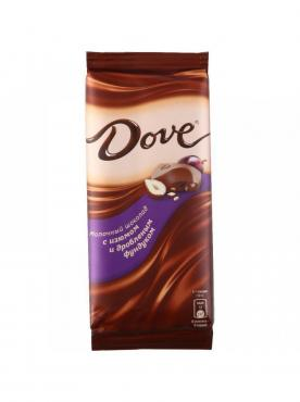Шоколад Dove молочный с фундуком и изюмом