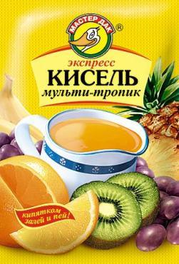 Кисель Мультитропик экспресс Мастер Дак, 30 гр., бумага
