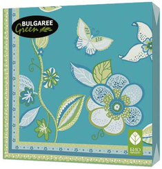 Салфетки Bulgaree Green 33*33см бумажные, 20шт