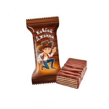 Конфеты Невский кондитер Ковбой Джонни вафельные с шоколадным вкусом