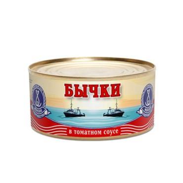 Бычки Морское содружество Обжаренные в томатном соусе