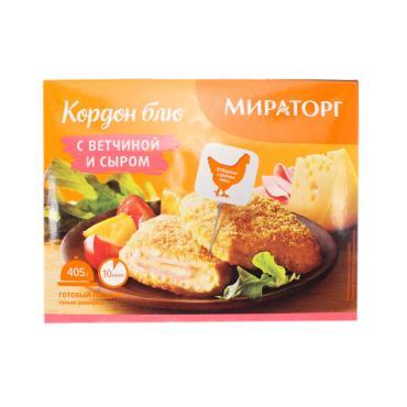 Готовое блюдо Мираторг Кордон блю с ветчиной и сыром