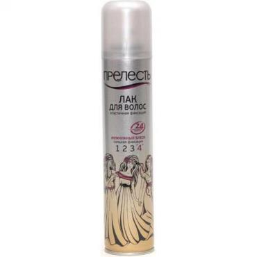 Лак Прелесть Классик для волос жемчужный блеск сильная фиксация