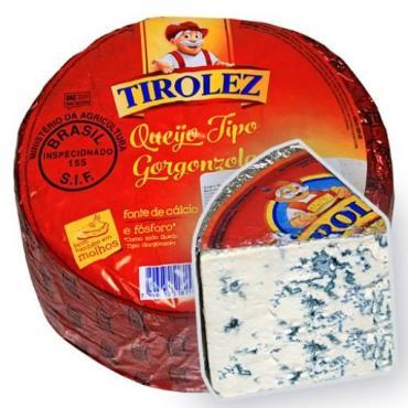 Сыр Tirolez Gorgonzola C голубой плесенью 60%, Бразилия