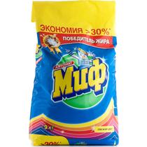 Стиральный порошок Миф Свежий цвет автомат для всех видов тканей 9 кг