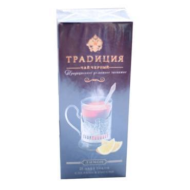 Чай Традиция Лимон черный в пакетиках