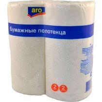 Бумажные полотенца Aro 2 слоя 2 рулона
