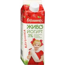 Питьевой биойогурт Живо! Останкинский клубника 3% 500 г