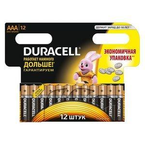 Батарейки Duracell AAA LR3 Basic щелочные 12шт.
