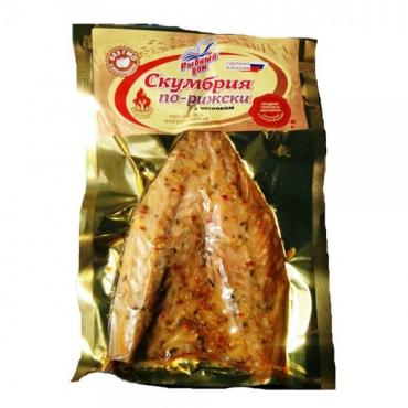 Скумбрия Рыбный дом филе горячего копчения по-рижски с чесноком