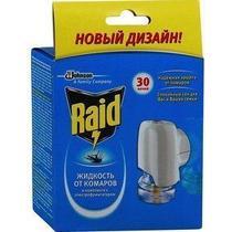 Электрофумигатор от комаров Raid + жидкость от комаров Raid 30 ночей, Промо