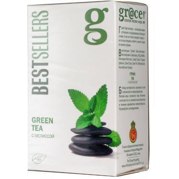 Чай Grace! зелёный с мелиссой, 75 гр., картон