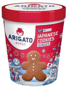 Печенье Arigato Christmas Collection Японское имбирное