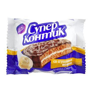 Печенье Супер-к со сгущенным молоком, Конти, 50 гр., флоу-пак