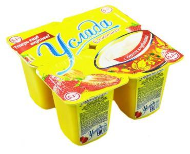 Йогурт Erhmann Услада с соком клубники 5.1%