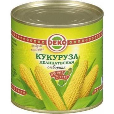 Кукуруза DEKO деликатесная отборная