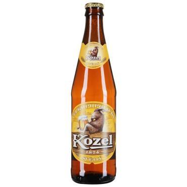 Пиво светлое 4,9%, Велкопоповицкий Козел, 500 мл., Стекло