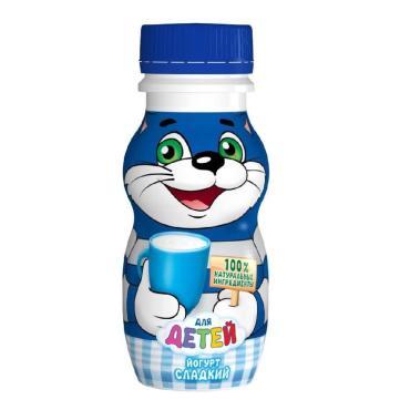 Йогурт Простоквашино Для детей Сладкий натуральный питьевой 1,7%