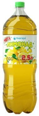 Напиток Лимонад газированный безалкогольный Ниагара, 2,5 л., ПЭТ
