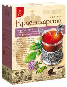 Чай черный Краснодарскiй чай ВЕКА с 1901 года крупнолистновой с чабрецом и душицей