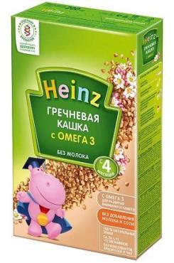 Каша HEINZ Гречневая кашка с Омега 3 без молока 200г
