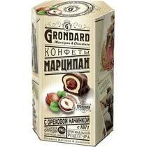Конфеты Grondard Марципан с ореховой начинкой