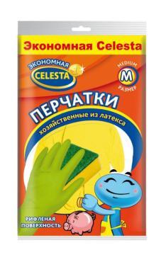 Перчатки Celesta Экономная Хозяйственные из латекса М