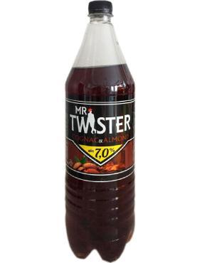 Пивной напиток Коньяк-Миндаль , Mr Twister, 1,35 л., ПЭТ