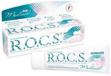 Гель реминерализующий, R.O.C.S. Медикал Минералс Фрут 35 мл., Пластиковая туба