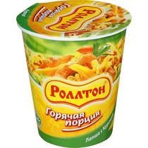 Лапша Роллтон Горячая порция с курицей