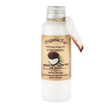 Масло для тела Кокоса холодного отжима, Чистое базовое, Organic Tai, 120 мл., Флакон
