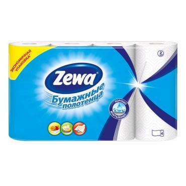 Бумажные полотенца Zewa 2 слоя, 4шт