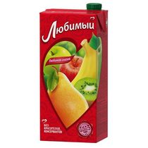 Сок Любимый яблоко-банан-груша-киви 0,95 л.