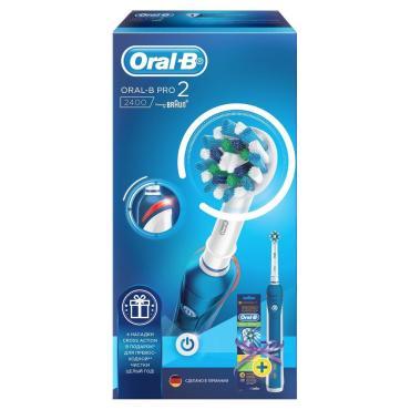 Набор Oral-B Pro 2400 + Электрическая зубная щетка PRO 2 2000