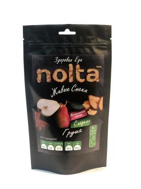 Чипсы фруктовые Груша с мексиканской корицей, NOLTA, 50 гр., дой-пак