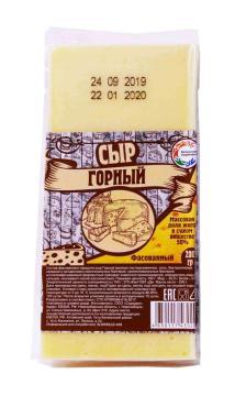 Горный сыр 50% фас Алтайские сыровары, 200 гр., вакуумная упаковка