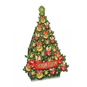 Новогодний подарок Ёлка, Кондитерский дом Белочка, 700 гр., картон
