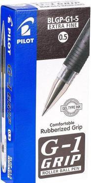 Ручка гелевая Pilot G1 Grip BLGP-G1-5 черная 0.5 мм.