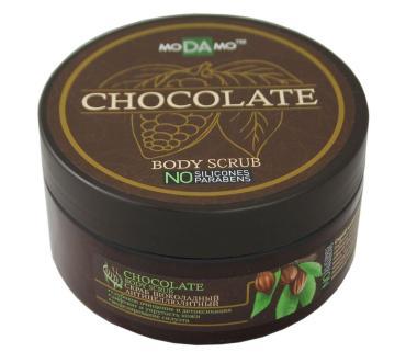 Скраб для тела шоколадный, moDAmo, 200 мл., Пластиковая банка