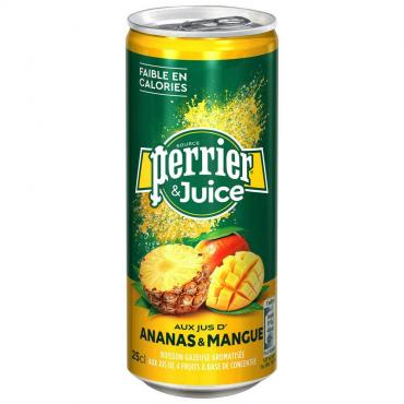 Газированный напиток Perrier & Juice Ананас-Манго, 250 мл., жестяная банка
