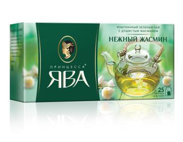 Чай Принцесса ЯВА Нежный Жасмин зеленый ароматизированный
