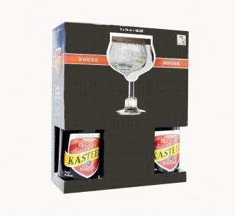 Набор подарочный 8 % Van Honsebrouck Kasteel Rouge, Бельгия, картонная коробка