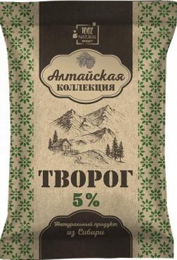 Творог натуральный 5% Алтайская коллекция, 180 гр., пластиковый пакет