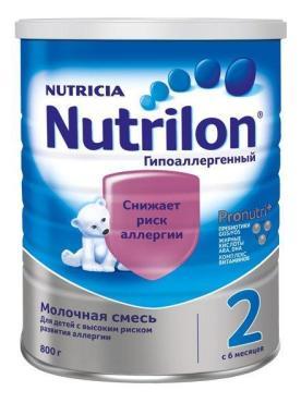Молочная смесь Nutrilon Гипоаллергенный 2 с 6 месяцев