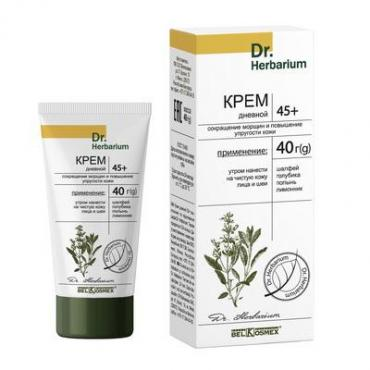 Крем BelKosmex Dr. Herbarium Крем для лица дневной 45+ сокращение морщин,упругость