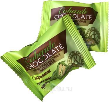 Конфеты с жареным кунжутом, Cobarde el Chocolat, Cobarde el Chocolate, 1 кг., флоу-пак