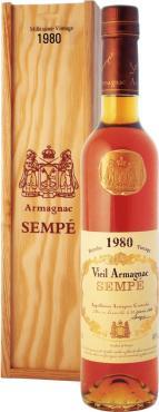 Арманьяк 40% Sempe Vieil Armagnac 1980, 500 мл., подарочная упаковка