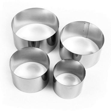 Набор форм для выпечки и выкладки Tas-Prom Круг 6,6 см. диам. 10 см. 4 шт.