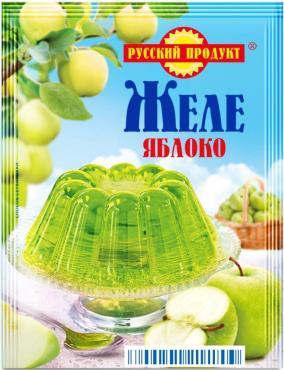 Желе зеленое яблоко Русский продукт, 50 гр., сашет