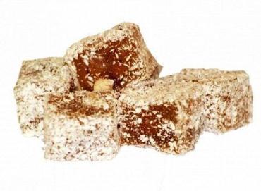 Рахат-лукум с миндалем в кокосовой стружке, Нимет, 2,5 кг., картонная коробка